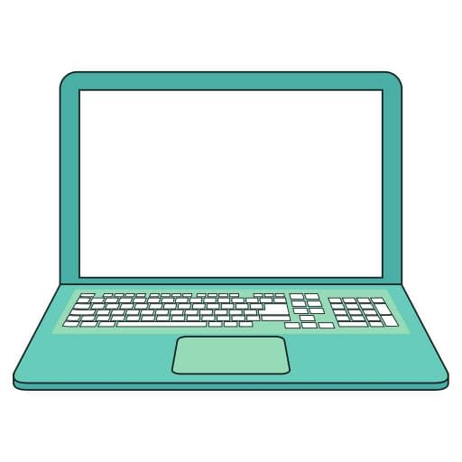 a graphical image of a laptop
