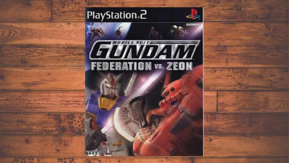 PS2 cover of Mobile Suit Gundam: Federation vs. Zeon game